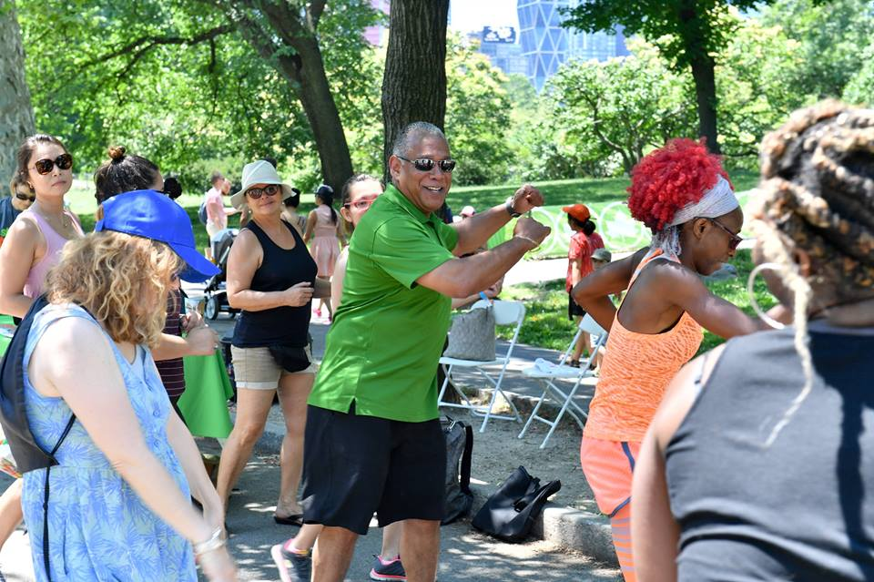 afrodancercise with NYC Parks Commissioner (1)